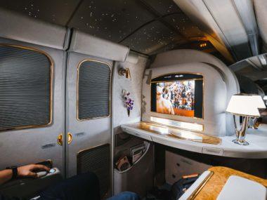 Первый класс Emirates 777-300ER