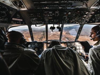 Полёт на Ми-8 над Магаданом