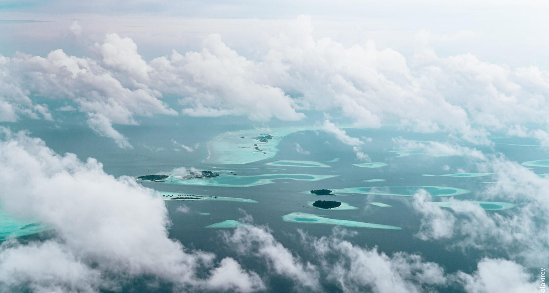 Мальдивы с самолёта
